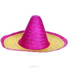 Лиловая маскарадная шляпа