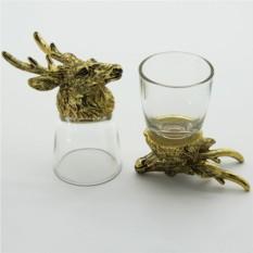 Набор рюмок-перевертышей с головами животных Олень
