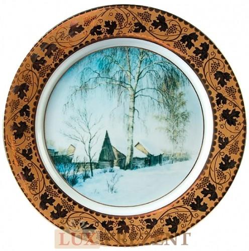 Декоративная тарелка Русская зима