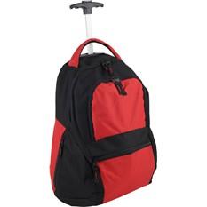 Красный рюкзак на колесиках