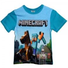 Футболка Minecraft Стив на лошади