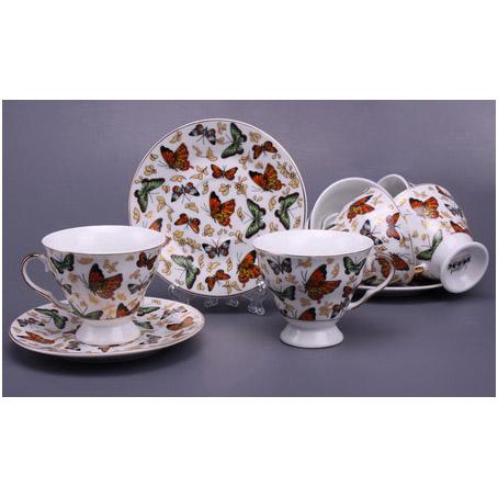 Чайный набор на 6 персон «Бабочки»