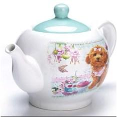 Голубой заварочный чайник с крышкой Собачки Loraine