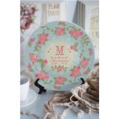Декоративная тарелка с вашим текстом Прованс