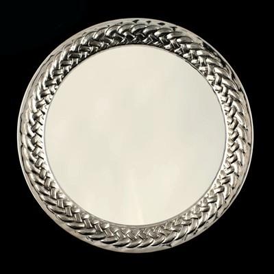 Круглый поднос из серебра