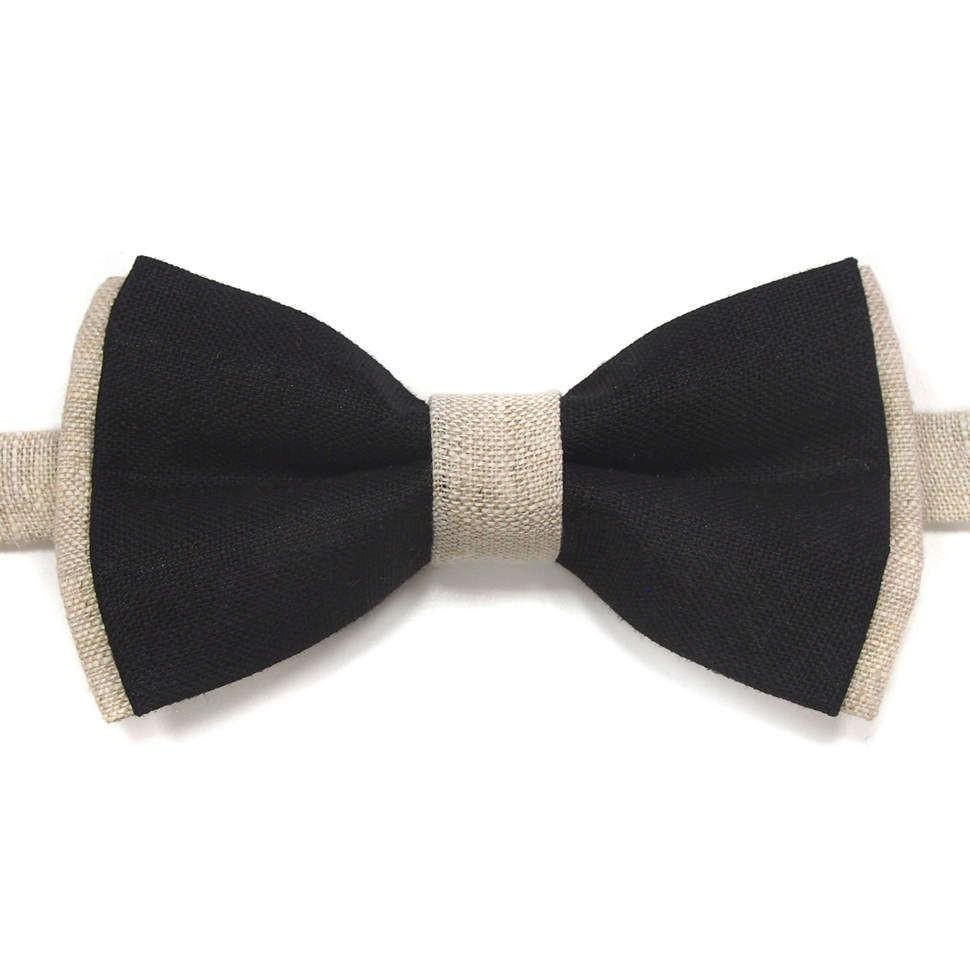 Двухцветный галстук-бабочка