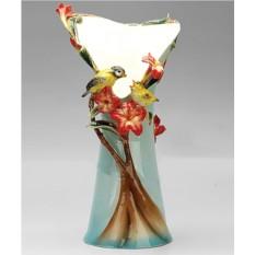 Фарфоровая скульптурная ваза Материнская любовь