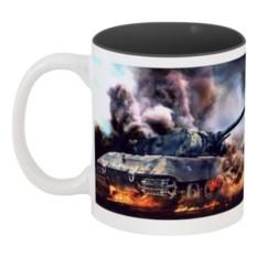 Кружка цветная внутри с принтом World of tanks