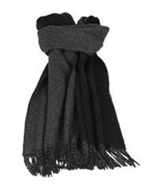 Шарф из шерсти альпаки, черно-серый