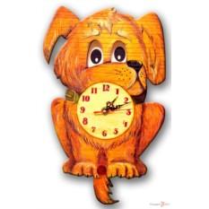 Часы настенные с маятником Пёсик