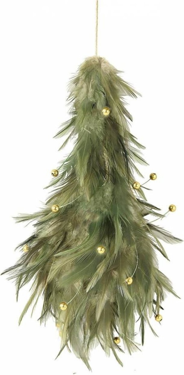 Новогоднее интерьерное украшение из перьев Mister Christmas