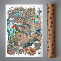 Постер Pixel Times (винтаж)