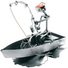 Фигурка «Рыбак в лодке» HINZ KUNST
