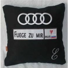 Подушка Audi с номером и монограммой