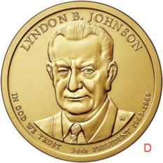 Монета 1 доллар Линдон Бэйнс Джонсон. 36-й президент США