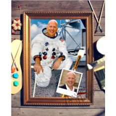 Портрет по фото Космонавт