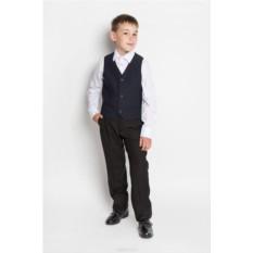 Классический темно-синий жилет для мальчика Orby School
