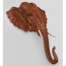 Панно из дерева суар Индийский слон (60 см)