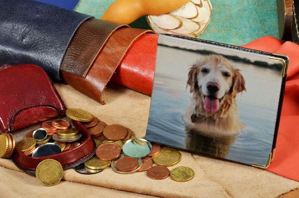 Портмоне с принтом Собака в воде