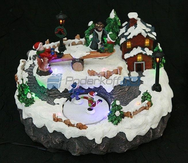 Новогодняя композиция с подсветкой Новогодние гулянья