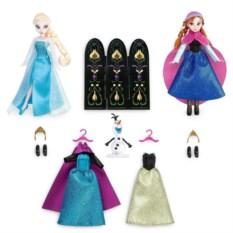 Набор кукол Эльза и Анна Холодное сердце, Модный гардероб