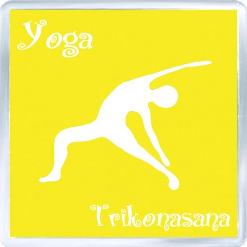 Магнитный подарок: Йога. Поза Trikonasana.
