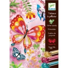 Раскраска Djeco Блестящие бабочки