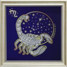 Картина с кристаллами Swarowski Звездный скорпион