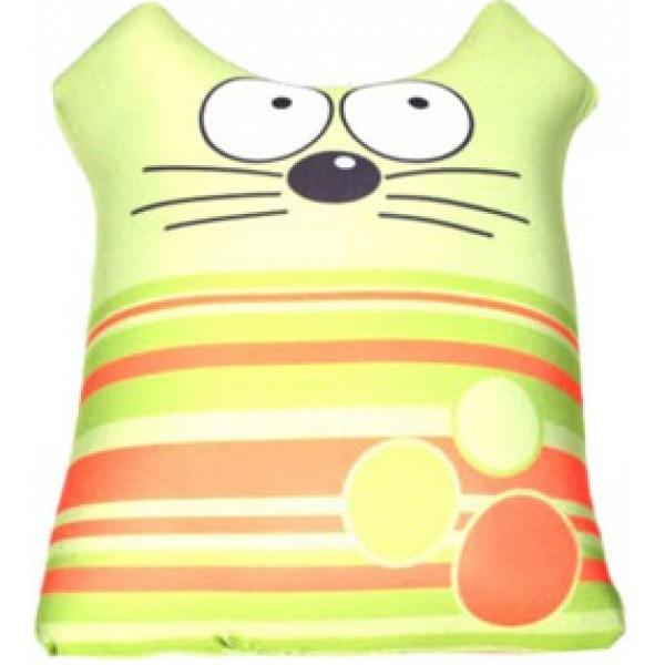 Игрушка антистрессовая Кот полосатик зеленый