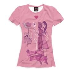 Женская футболка Половинки влюбленных