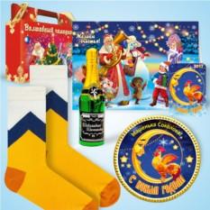 Набор с дизайнерскими носками «Мороз и солнце»