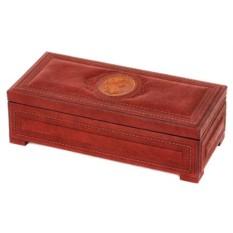 Большая шкатулка для украшений из кожи «Камея»