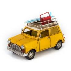Ретро-модель Желтый автомобиль с фоторамкой и копилкой