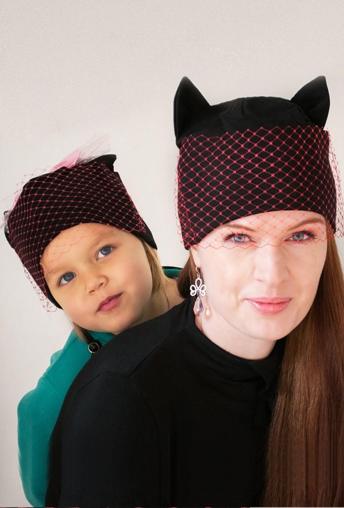 Семейный комплект шапок Кисс мисс