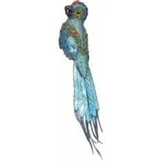 Новогоднее коллекционное елочное украшение Попугай