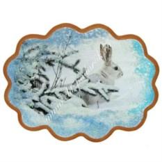 Панно из каменной крошки на репродукции Заяц беляк
