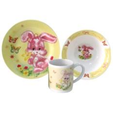 Набор детской посуды «Зайка»