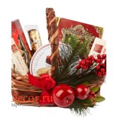 Подарочная корзина Новогодний десерт