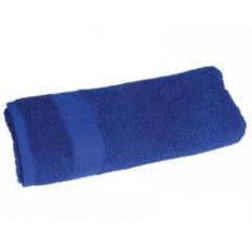 Синее махровое полотенце