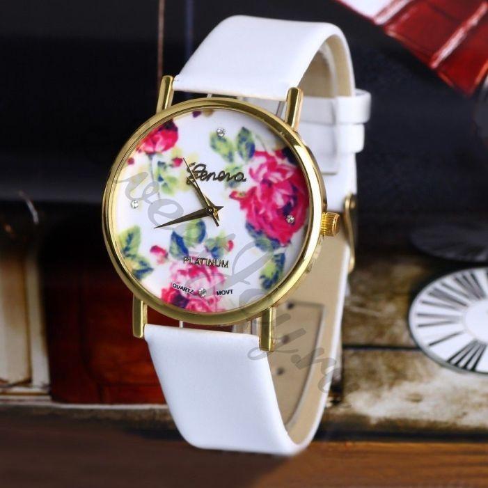 Часы Geneva Caress Rose – White