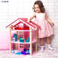 Трехэтажный домик для куклы Роза Хутор
