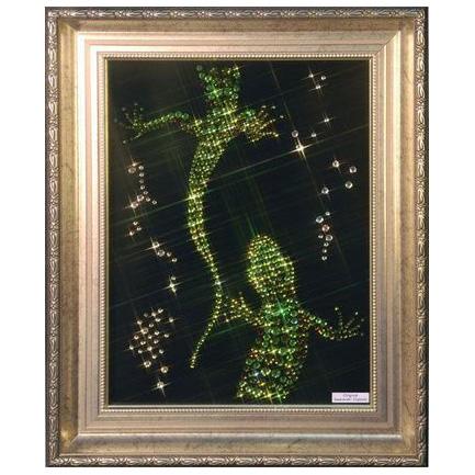 Картина с кристаллами Swarovski «Ящерки»
