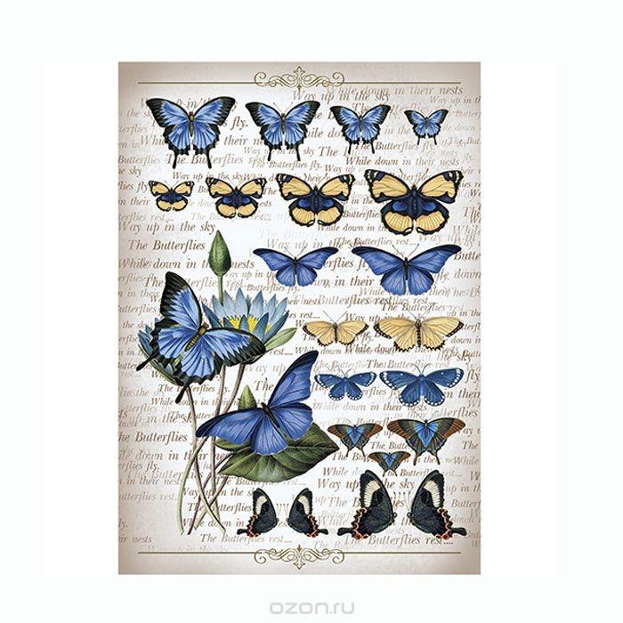 Рисовая бумага для декупажа Коллекция бабочек, A3