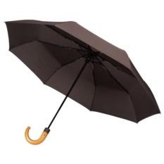Коричневый складной зонт Unit Classic