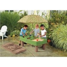 Детская песочница Стол с крышкой и зонтом (Step2)