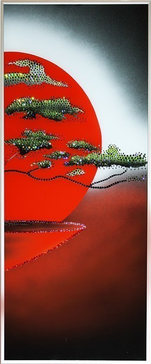 Картина Swarovski Закат