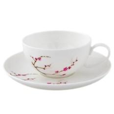 Чашка с блюдцем Цветущая сакура (180 мл)