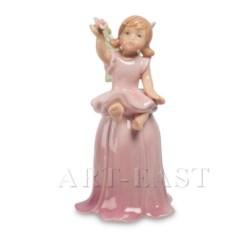 Розовый фарфоровый колокольчик Сказочная Фея Pavone