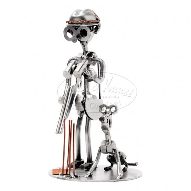 Металлическая статуэтка Охотник с собакой, HINZ&KUNST
