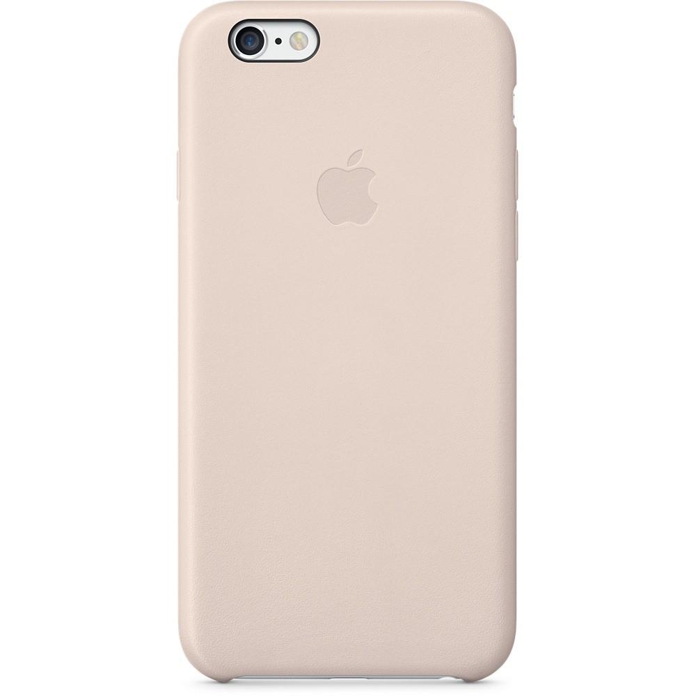 Бледно-розовый кожаный чехол для Apple iPhone 6